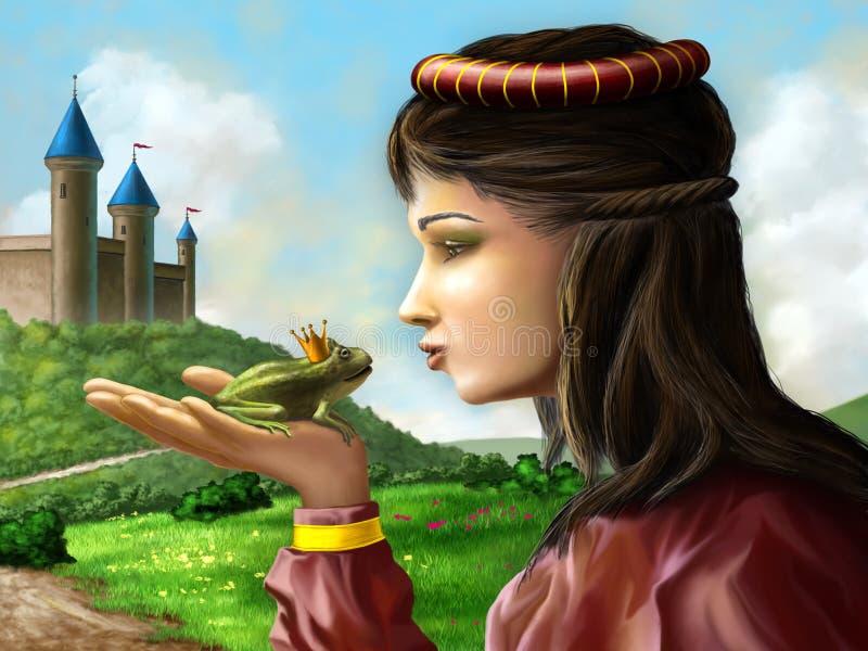 Grodaprince royaltyfri illustrationer