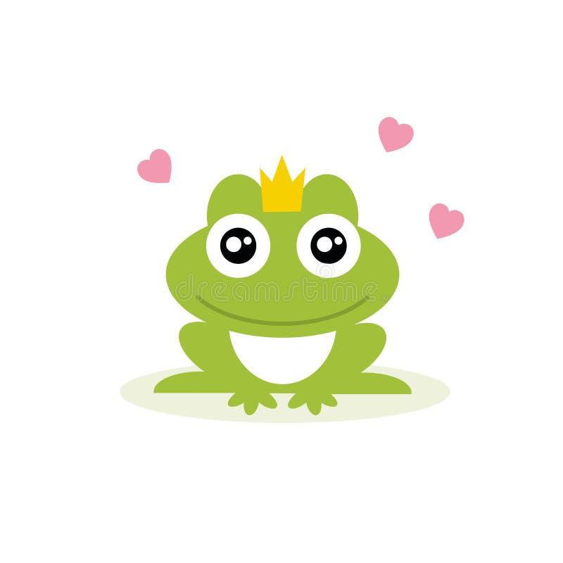 Grodaprins Grodaprinsessa också vektor för coreldrawillustration royaltyfri illustrationer