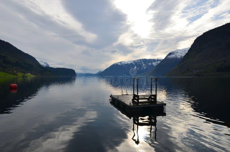 Grodas deepest lake in Norway, in Europe stock image