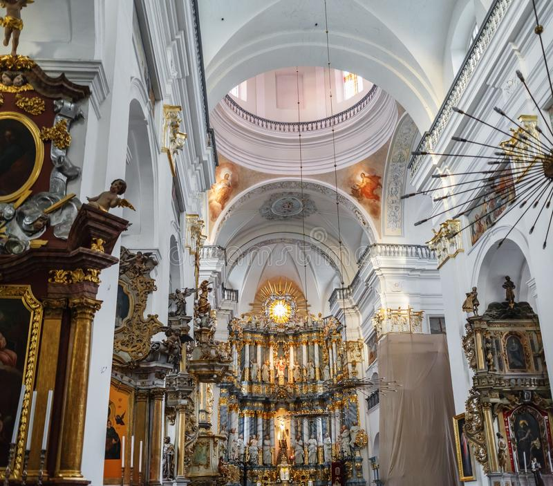 Interior of the church royalty free stock photo