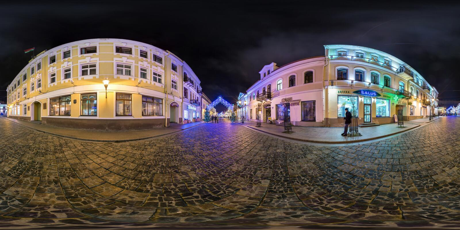 Panorama Of Antique City Street Editorial Photography