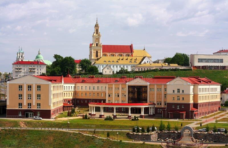 Grodno, Belarus Paisaje de la ciudad imágenes de archivo libres de regalías