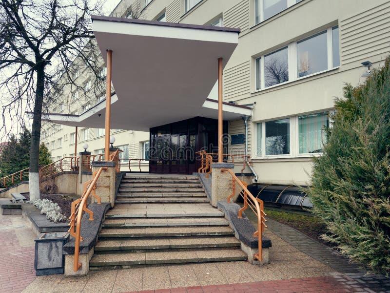 GRODNO BIAŁORUŚ, MARZEC, - 18, 2019: Piękny budynek w mieście Grodno fotografia royalty free