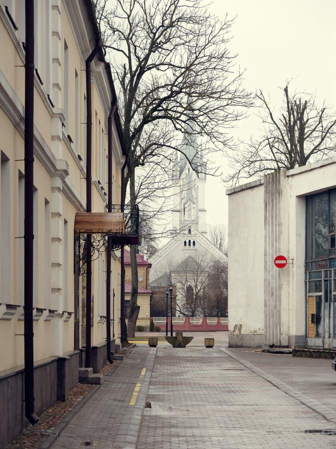 GRODNO BIAŁORUŚ, MARZEC, - 18, 2019: Piękny budynek w mieście Grodno obrazy stock