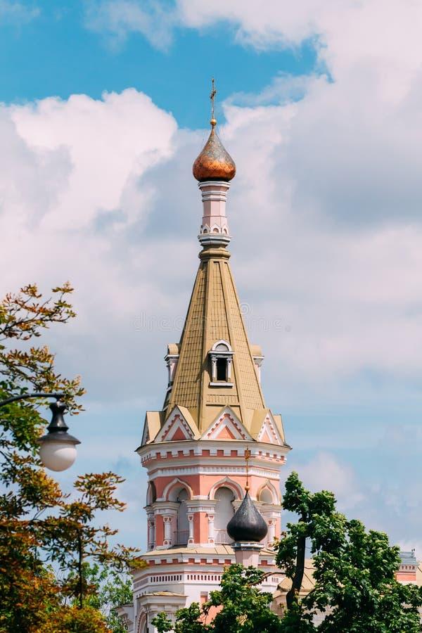 Grodno, Wit-Rusland Kathedraal van de Interventie van Heiligste Theotokos in Straat E Ozheshko Een andere Naam is royalty-vrije stock afbeeldingen