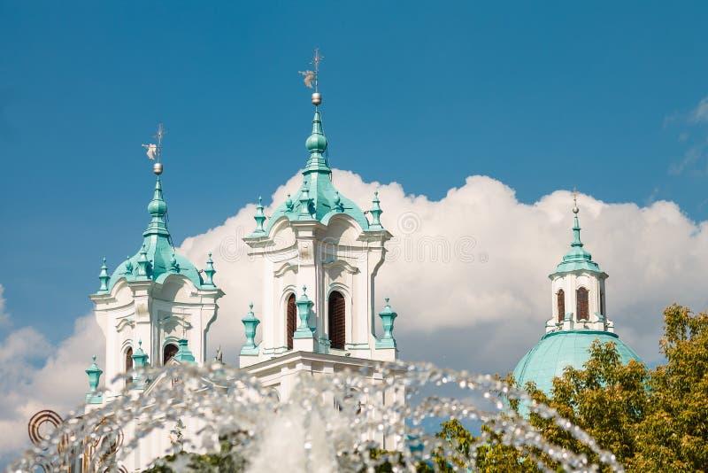 Grodno, Wit-Rusland: Kathedraal van St Francis Xavier royalty-vrije stock foto