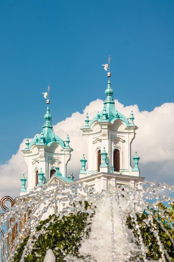 Grodno, Wit-Rusland: Kathedraal van St Francis Xavier stock fotografie