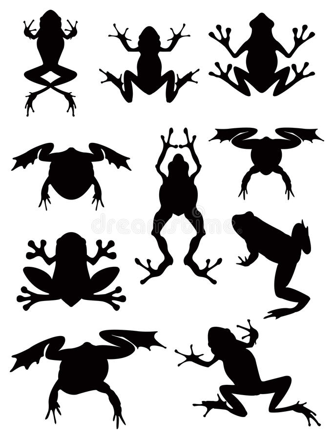 grodor royaltyfri illustrationer