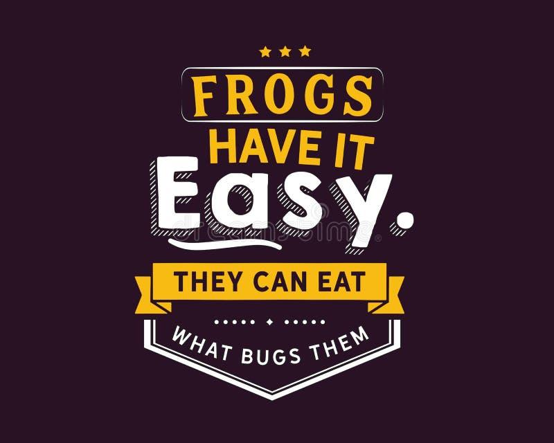 Grodor har det som är lätt, dem kan äta vad buggar dem stock illustrationer