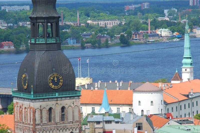 grodowa daugava rzeka Riga obraz stock