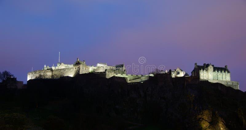 grodowa Edinburgh noc zdjęcie royalty free