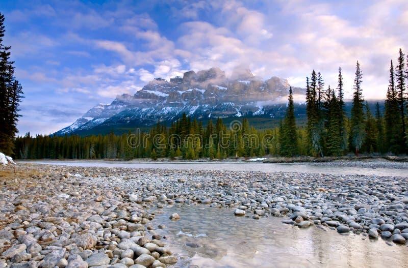 Grodowa góra w Banff parku narodowym, Alberta, Kanada zdjęcia stock