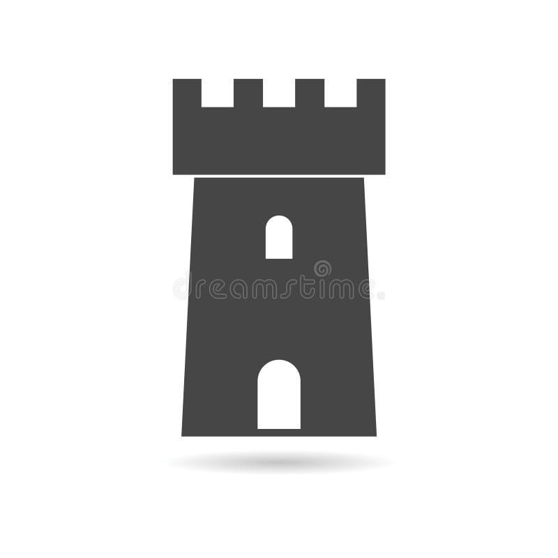 Grodowa ikona royalty ilustracja