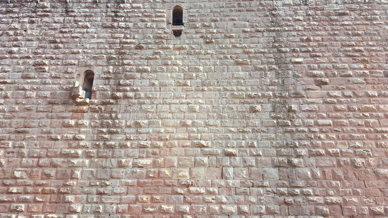 Grodowa kamienna ściana obraz stock