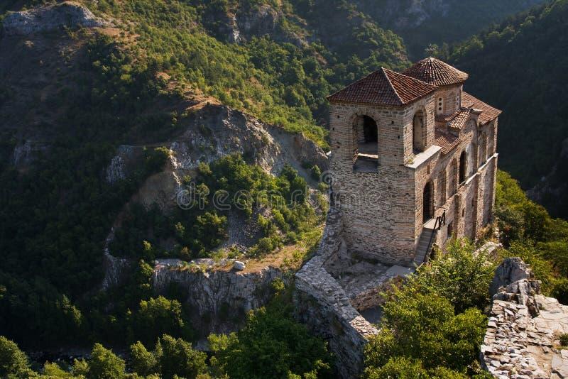 grodowa kościelna wysoka góra zdjęcie stock
