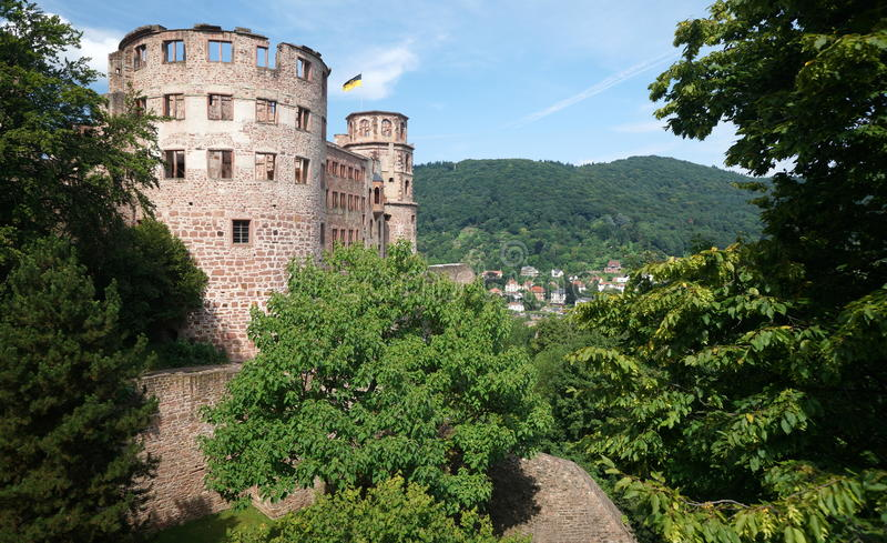 grodowa mgłowa Heidelberg ranek obserwacja nad obrazka punktem obrazy stock