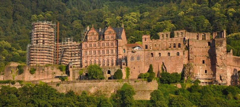 grodowa mgłowa Heidelberg ranek obserwacja nad obrazka punktem fotografia stock