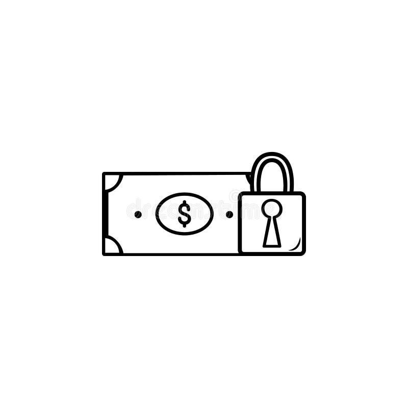 Grodowa pieniądze ikona Element popularna finansowa ikona Premii ilości graficzny projekt Znaki, symbol inkasowa ikona dla stron  ilustracja wektor