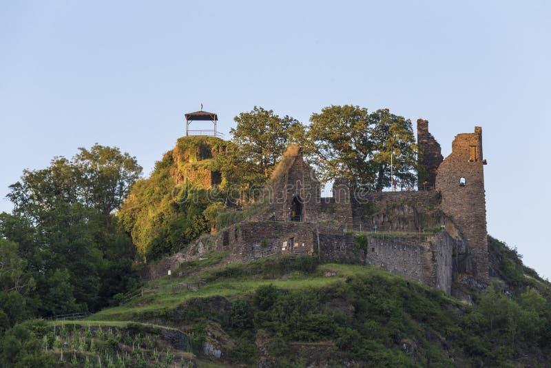 Grodowa ruina w historycznego miasteczka alt ahrweiler Germany obrazy royalty free