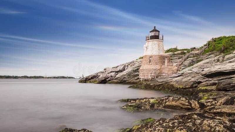 Grodowa wzgórze latarnia morska obraz royalty free
