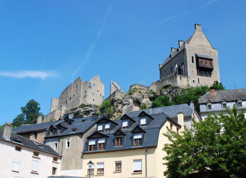 grodowe larochette Luxembourg ruiny obrazy stock