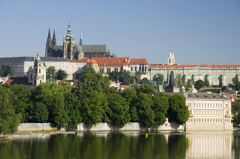 grodowej Europe starej fotografii Prague rzeczny podróży vltava zdjęcia stock