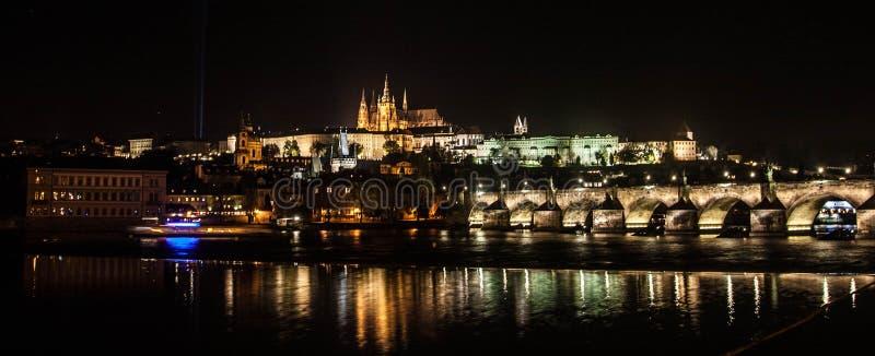 grodowej Europe starej fotografii Prague rzeczny podróży vltava obraz stock