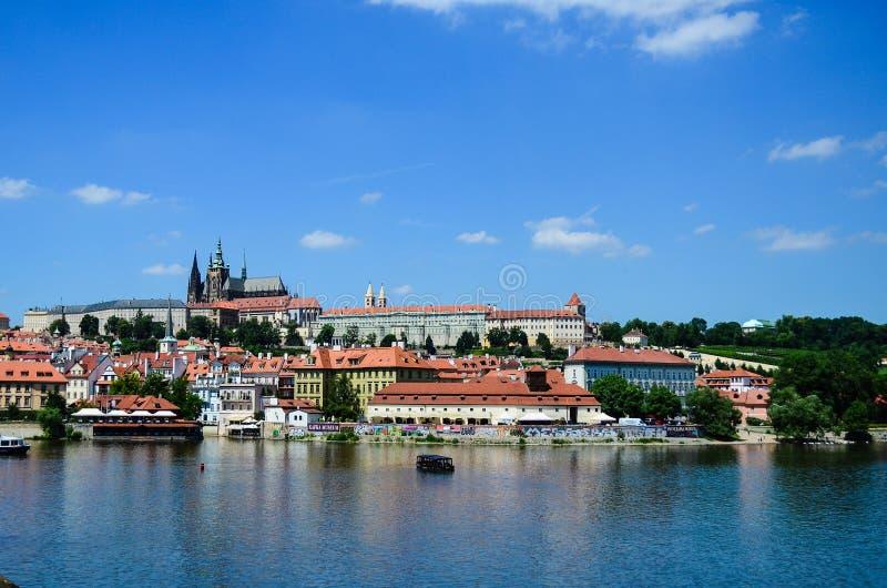grodowej Europe starej fotografii Prague rzeczny podróży vltava zdjęcia royalty free