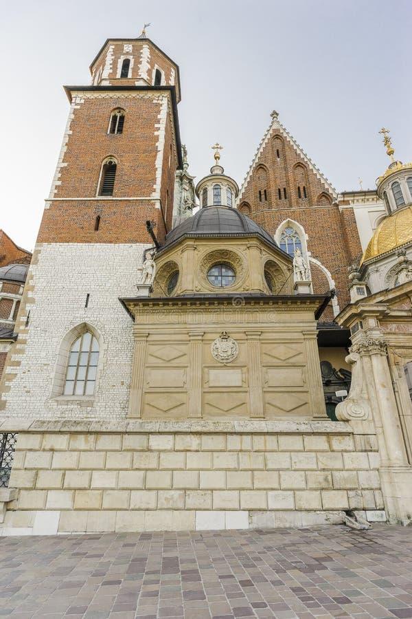 grodowej historii Krakow Poland pamiątkowy wawel średniowieczny zdjęcia stock