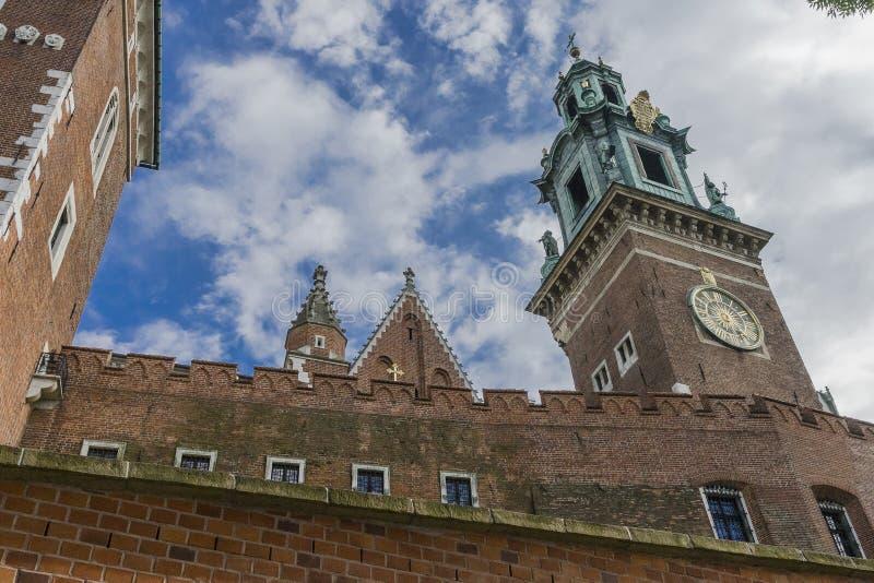 grodowej historii Krakow Poland pamiątkowy wawel średniowieczny fotografia royalty free