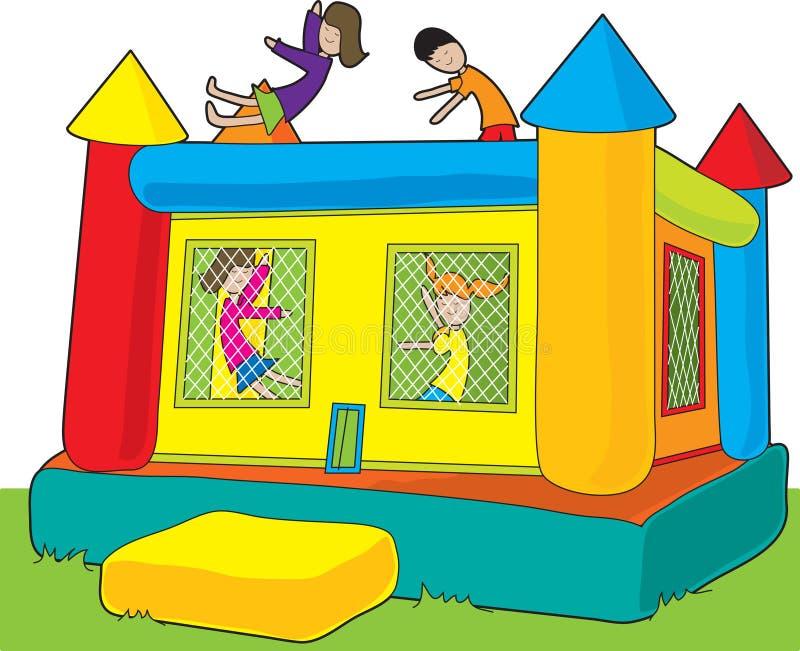grodowi odbicie dzieciaki ilustracja wektor
