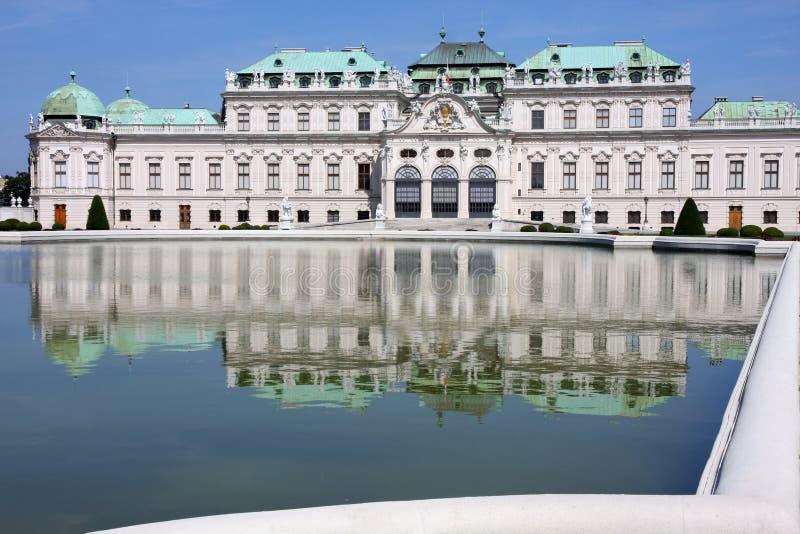 Grodowy baroku Belweder, Wiedeń, Austria zdjęcia royalty free