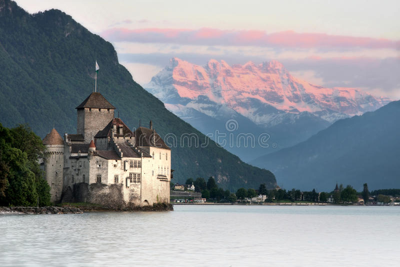 grodowy chillon Montreux Switzerland vaud obrazy stock