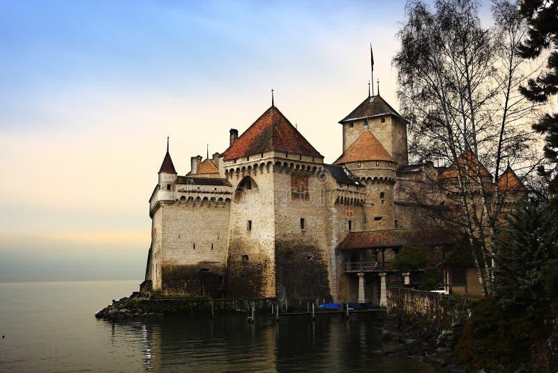 grodowy chillon Switzerland obraz royalty free