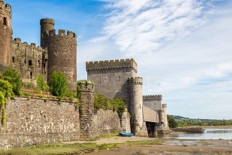 grodowy conwy Wales fotografia royalty free