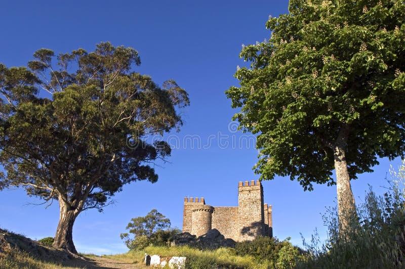 Grodowy Cortegana, Andalusia, Hiszpania obrazy stock