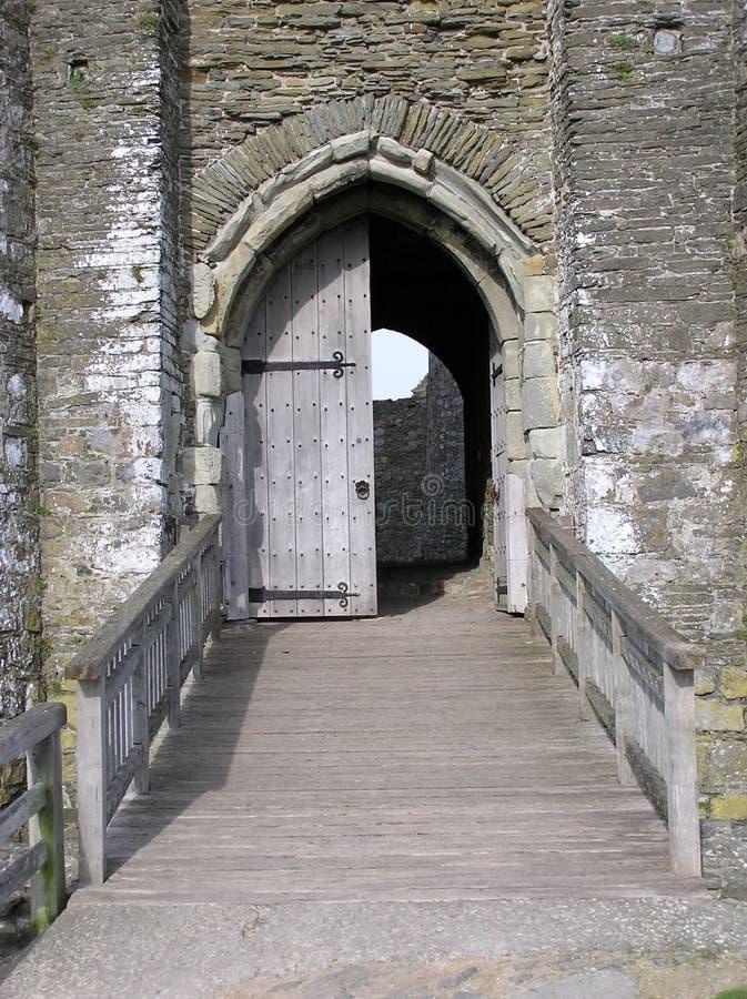 Grodowy Drzwi obraz stock