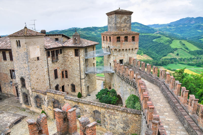 grodowy Emilia Italy romagna vigoleno obraz royalty free