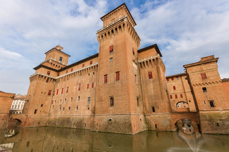 Grodowy Estense w Ferrara, Włochy obraz royalty free