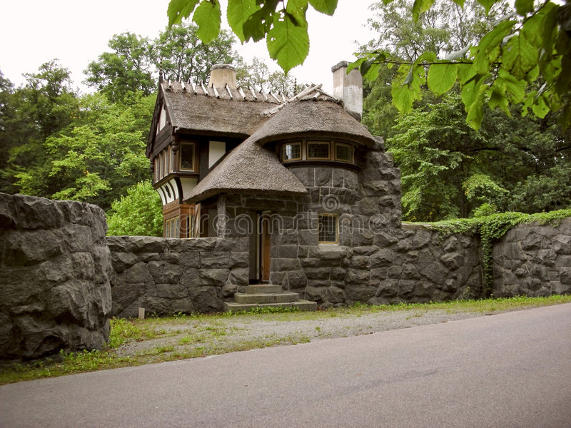 grodowy gatehouse Sweden obrazy royalty free