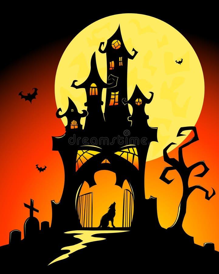 grodowy Halloween ilustracja wektor