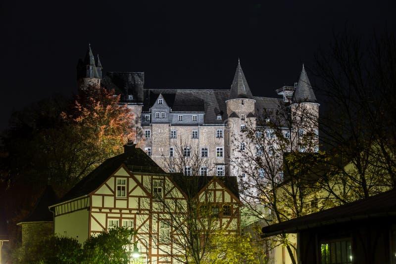 Grodowy herborn Germany w wieczór fotografia royalty free