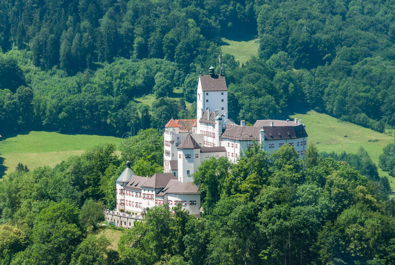 Grodowy Hohenaschau, Aschau, Bavaria obraz royalty free