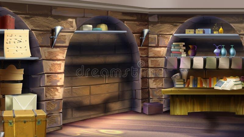 Grodowy izbowy wnętrze Wizerunek 02 ilustracja wektor