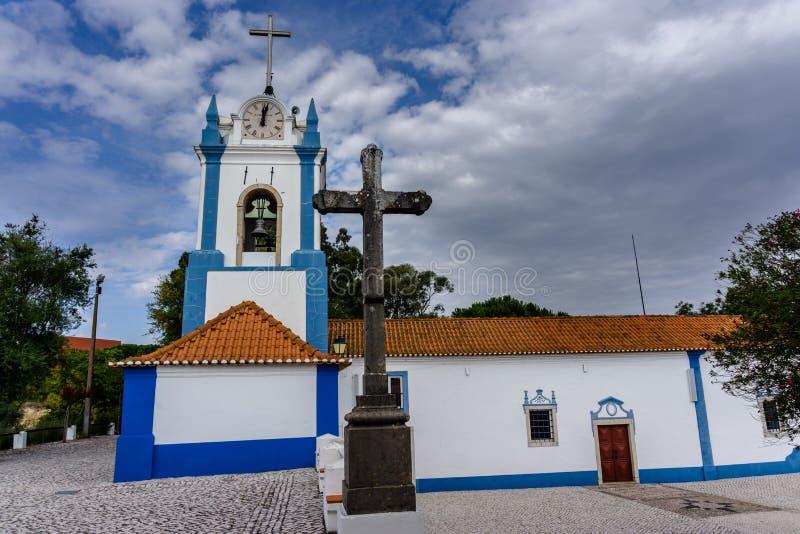 Grodowy kościół w Coruche, Ribatejo region, Portugalia zdjęcie stock