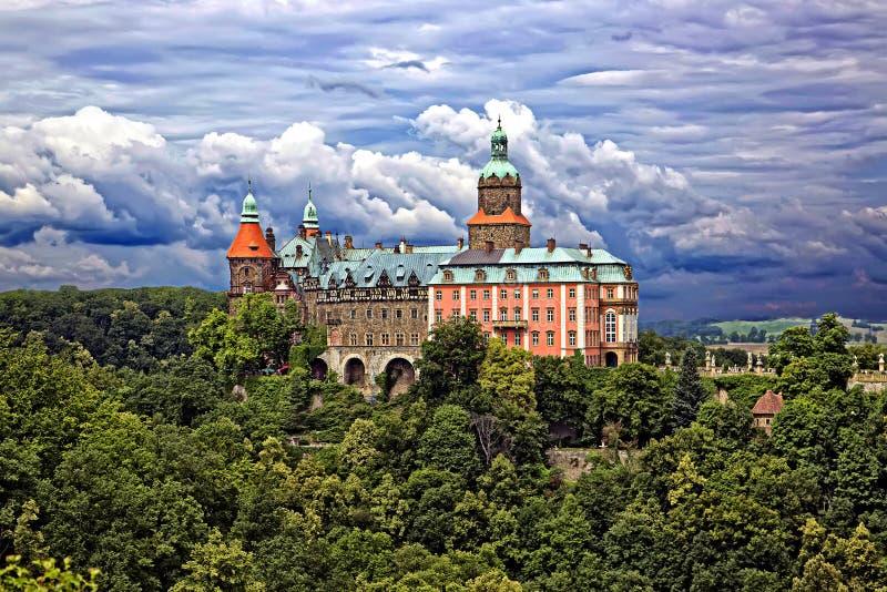 Grodowy Ksiaz w Wałbrzyskim zdjęcie stock