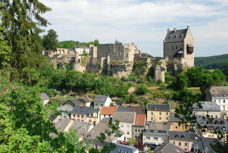 grodowy larochette Luxembourg zdjęcia royalty free