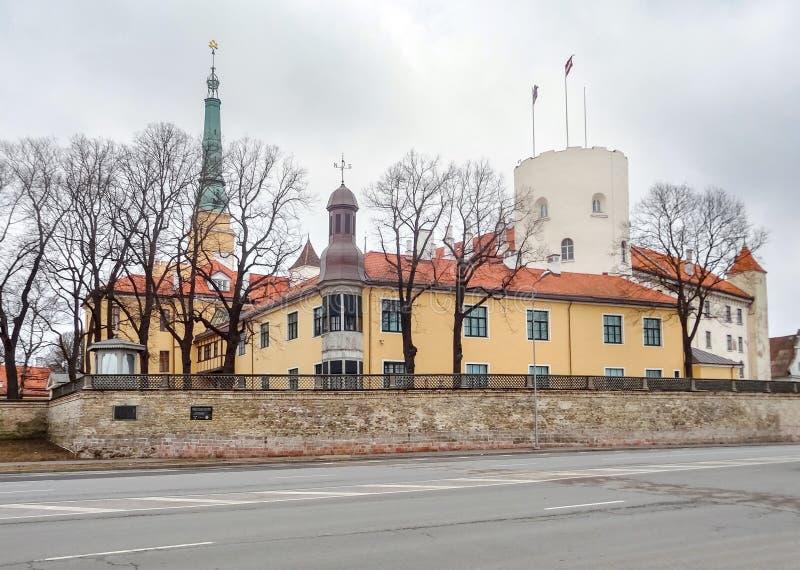 grodowy Latvia stary prezydent siedziby Riga miasteczko obrazy royalty free