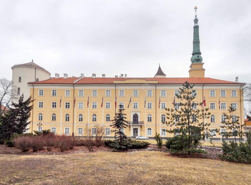 grodowy Latvia stary prezydent siedziby Riga miasteczko obrazy stock