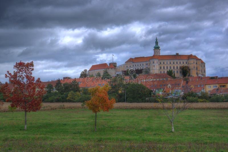 Grodowy Mikulov, Moravia, republika czech zdjęcie stock